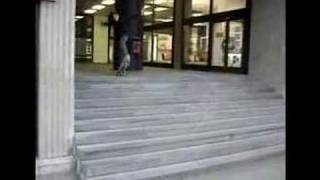 Little Chmarko trying to ollie 10 stairs