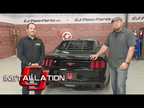 """2015-2017 Mustang Fastback GT Gibson Cat-Back 3"""" SS Ceramic Coated Black W/4-1/2"""" Tips Installation"""