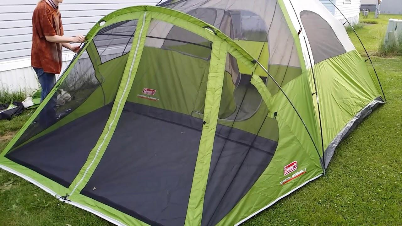 Coleman Evanston 6 Person Tent Review Setup & Coleman Evanston 6 Person Tent Review Setup - YouTube