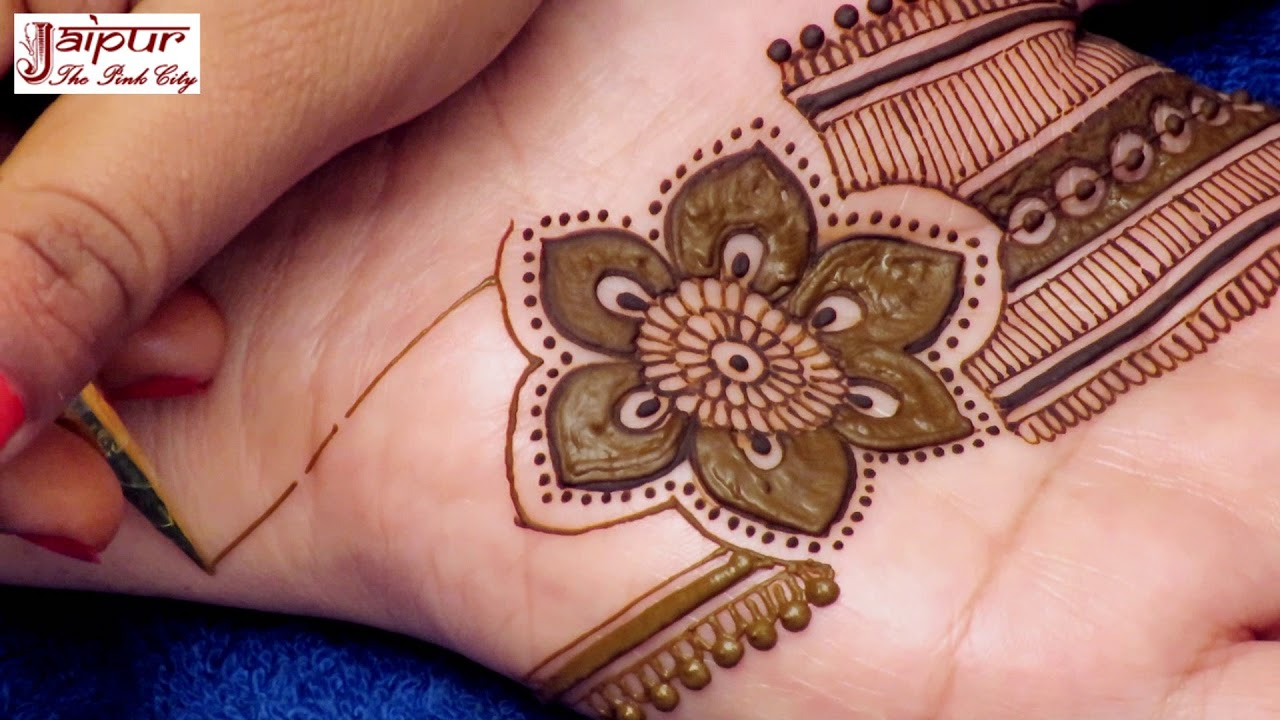 Zari Print Style Mehndi Design For Hands Jari Style Mehndi Design