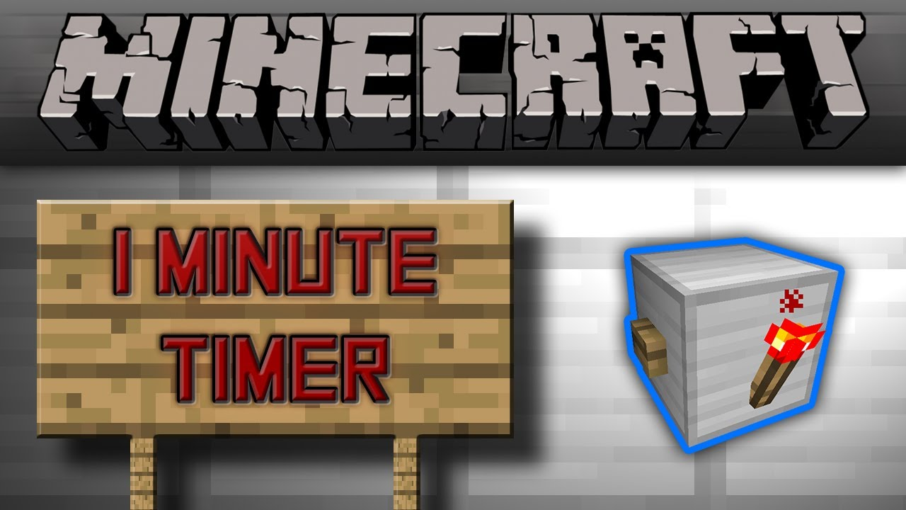 minecraft smallest 1 minute timer tutorial youtube