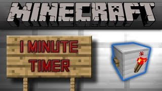 Minecraft - Smallest 1 Minute Timer [Tutorial]
