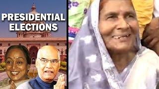 Mother blesses her son Ram Nath Kovind ahead of president election result
