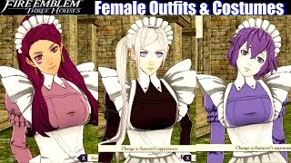 FE3H All Female Outfits & DLC Costumes - Fire Emblem Three Houses