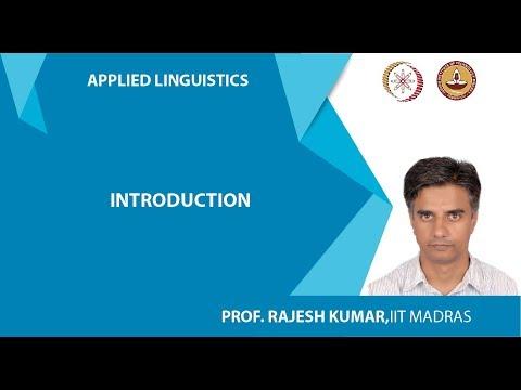 Lec 1: Introduction to Applied Linguistics