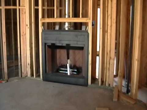 Building Process 29 Fireplace Installation Youtube