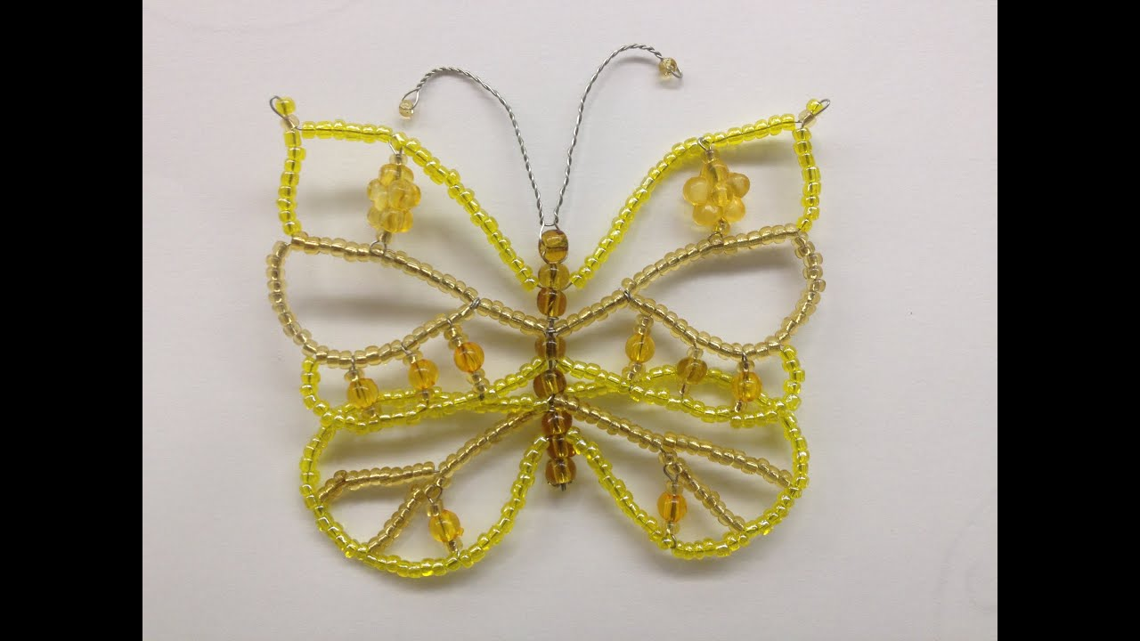 babochka iz bisera tutorial beaded butterfly master