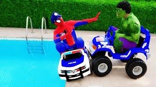 AMAZING PEPSI CHALLENGE! Movie Kids Toys W/ Spiderman, Hulk & Joker Coke Coca Cola FUN In Real Life