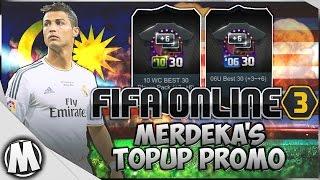 fifa online 3 merdeka top up promotion 10wc best 30 06u best 30 grade 3 6 x2 pack opening