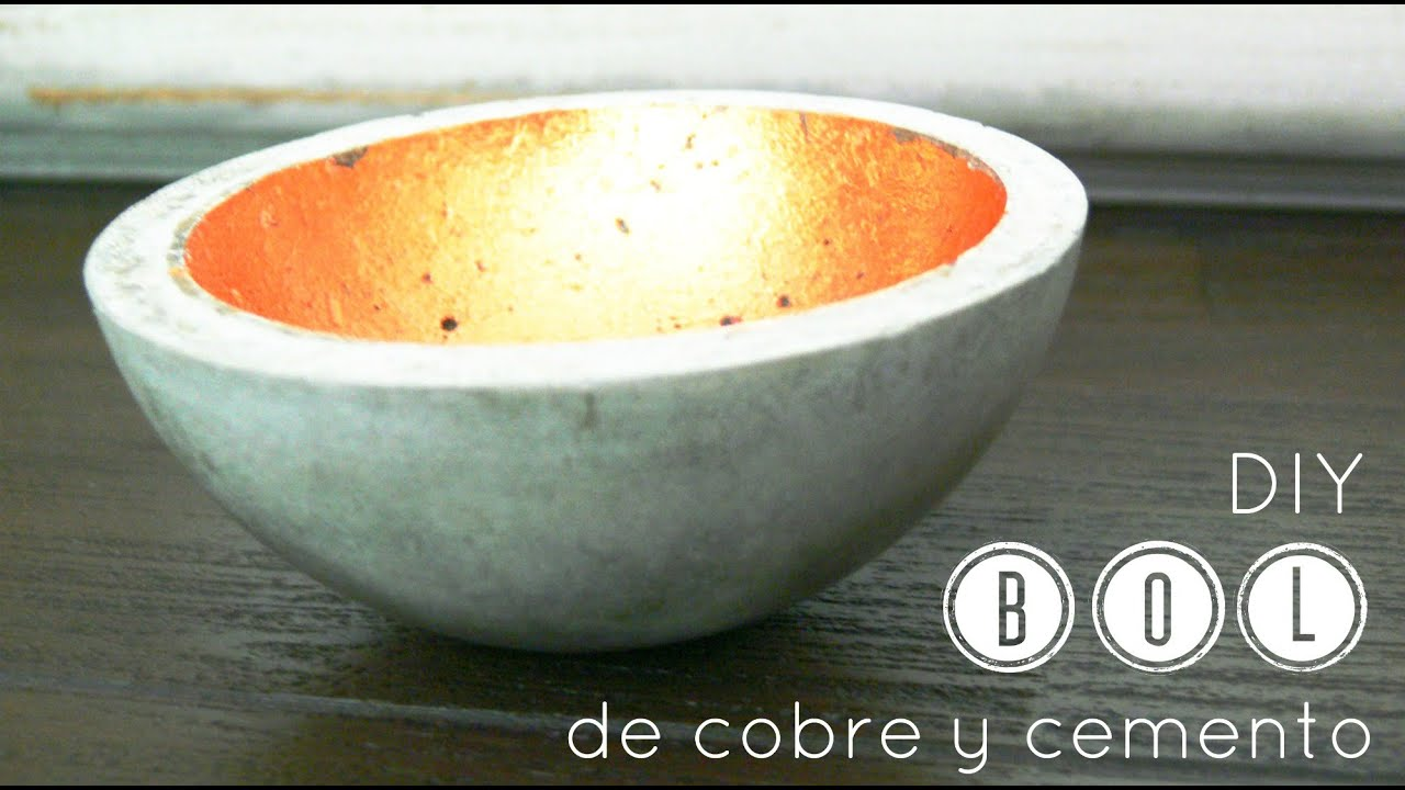 C mo hacer un bol de cemento how to make a concrete bowl for Como construir una pileta de cemento