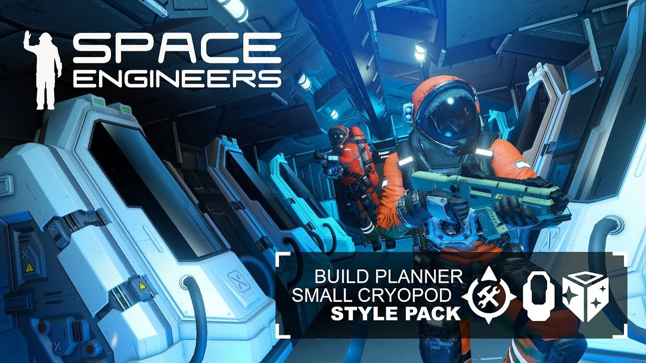 space engineers build planner small grid cryo pod and. Black Bedroom Furniture Sets. Home Design Ideas