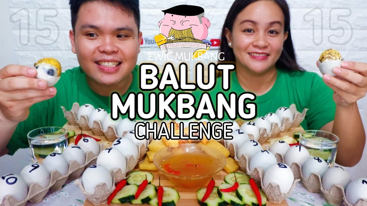 Balut Mukbang Challenge 15 VS 15 / Filipino Food Mukbang / Putok Batok Food / Mukbang Philippines