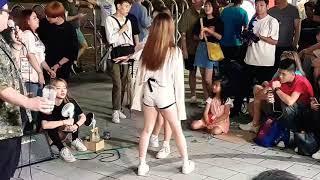 20190801 홍대 버스킹 공연 댄스팀 클락 지은 개…