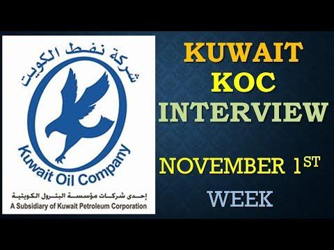 KUWAIT KOC NORTH MAINTENANCE PROJECT  INTERVIEW ON NOVEMBER 1ST WEEK