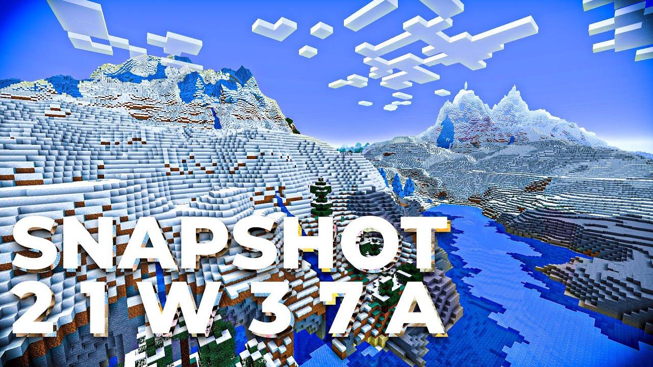 Minecraft Snapshot 21w37a - THE FIRST 1.18 Snapshot!
