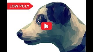 Low poly dog.