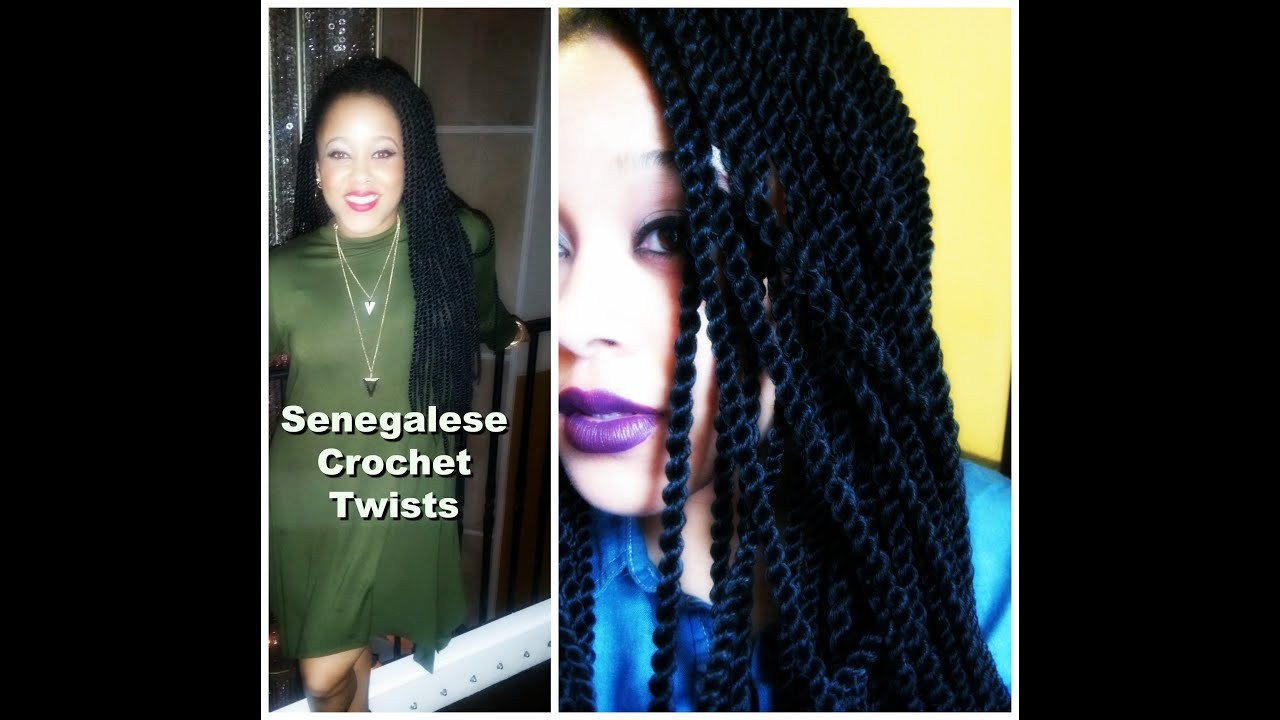 Crochet Twist Braids Youtube : Senegalese Crochet Twists w/ X-pressions - YouTube