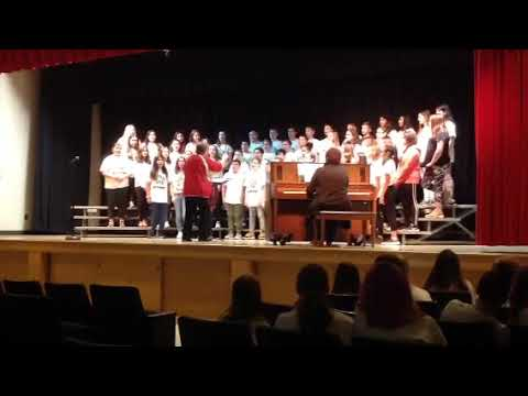 Horning Middle School 6th grade 2019 The Lion Sleeps Tonight