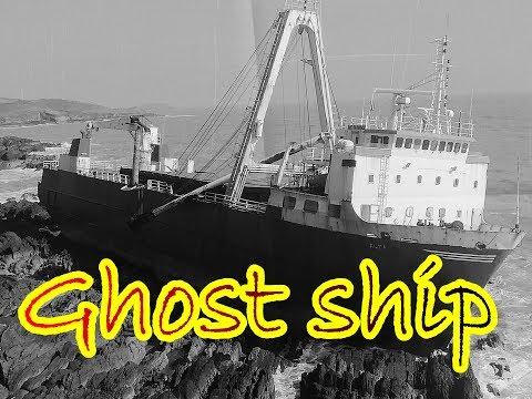 Корабль ПРИЗРАК у берегов ИРЛАНДИИ / Storm Dennis 'Ghost Ship' Washes Up On Irish Coast.