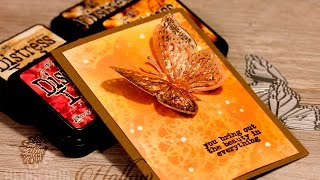 How to - Concord & 9th Butterfly Beauty Part 1:  Distress Moth Card Making Tutorial