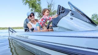 Toddler's FIRST Boat Ride (Best Father's Day Idea?)