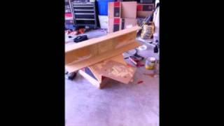 Making sub box for silverado crew cab 4 RE Audio 8 inch ven