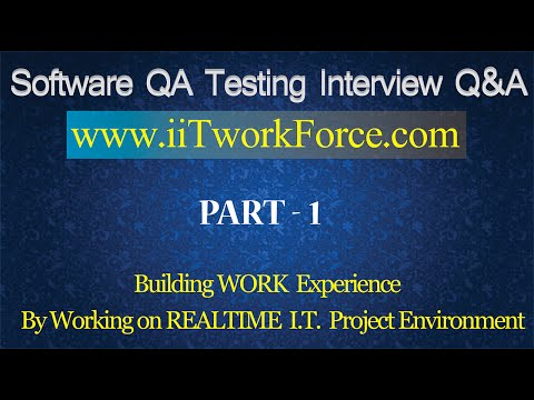 Software QA Testing Interview Questions and Answers - Part 1