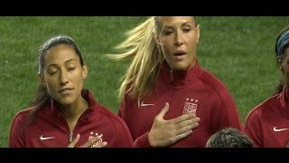 SBC - USWNT v Germany National Anthem 3.1.2017  [non-eng]