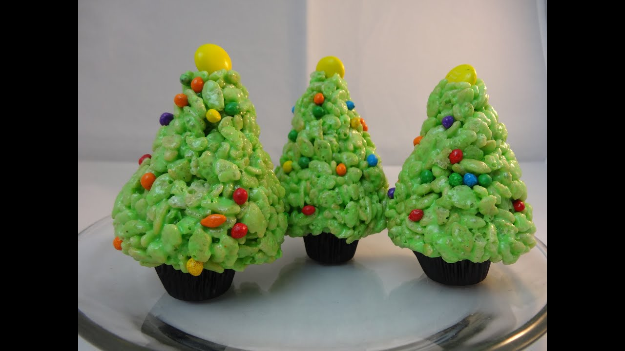 rice krispies cereal treat christmas trees with yoyomax12 youtube