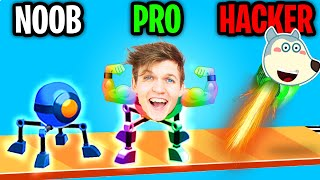 Can We Go NOOB vs PRO vs HACKER In ROLLY LEGS!? (ALL LEVELS!)