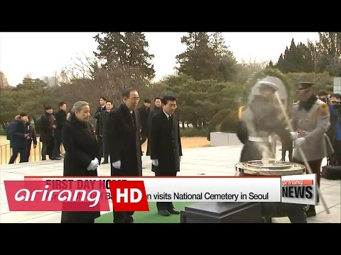 Former UN chief Ban Ki-moon visits National Cemetery in Seoul
