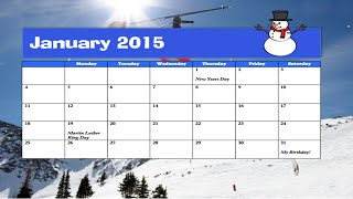 How to make a calendar in Microsoft Word