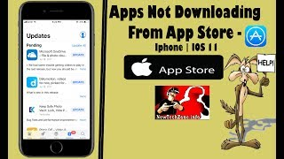 Apps Not Downloading from APPSTORE On IPHONE | 6 Methods To Fix In IOS11