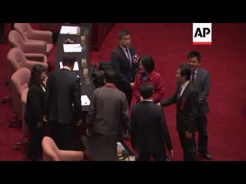 New speaker of Taiwan parliament elected