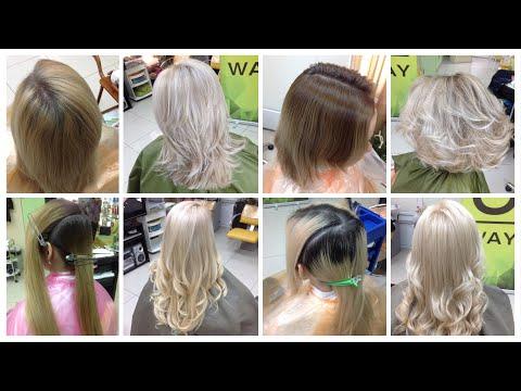 4 окрашивания волос: натуральный блонд, холодный блонд, жемчужный блонд, пепельный блонд