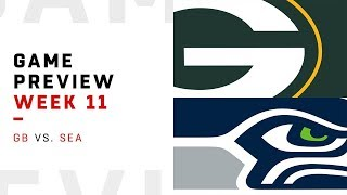Green Bay Packers vs. Seattle Seahawks | Week 11 Game Preview | NFL Playbook