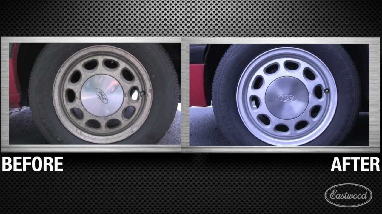 Soda & Abrasive Blasting Mustang Wheels with Small Job Blasting System from  Eastwood