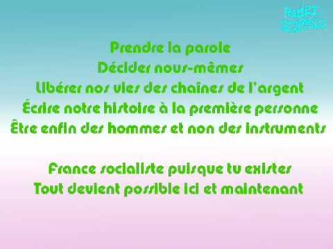 Changer la vie - Hymne Parti Socialiste 1977