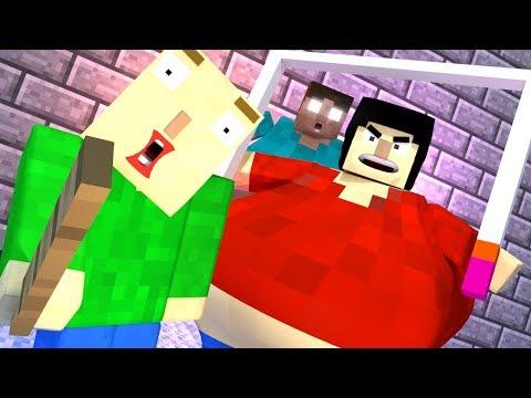 BALDI'S BASICS HORROR GAME - Minecraft Animation Compilation (Steve & More!)