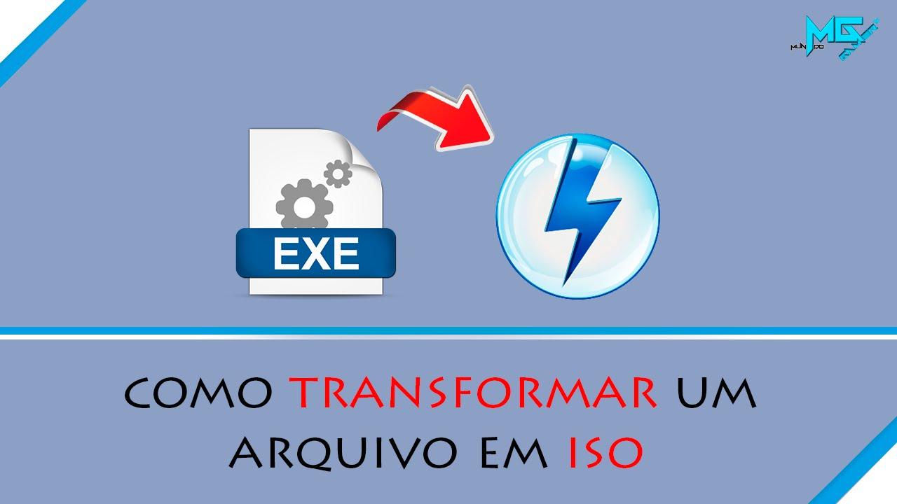 Converter Arquivos para o formato  ISO
