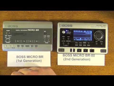 Portable Multitrack Face-off: BOSS Micro BR vs BR-80 - an  In-depth comparison features