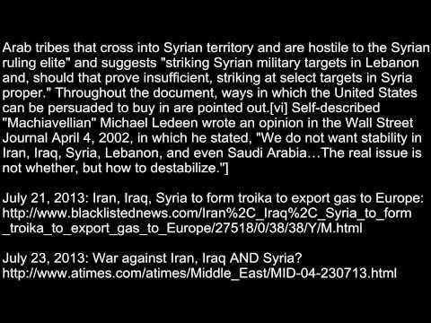 WORLD BANK WHISTLEBLOWER ON SYRIA [THE IRAN, IRAQ, SYRIA PIPELINE PROJECT]