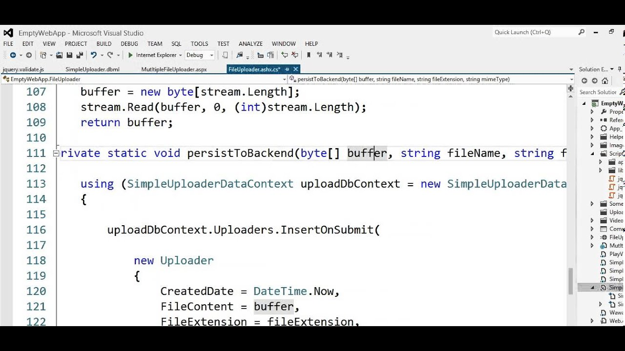Multiple file upload in asp net with JQUERY and JavaScript Part II