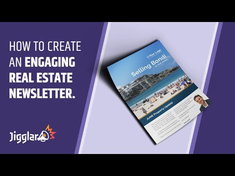 how to create an engaging real estate newsletter template jigglar