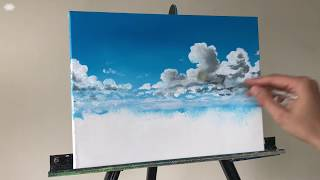 Cloud Acrylic STEP by STEP Painting Tutorial (ColorByFeliks)