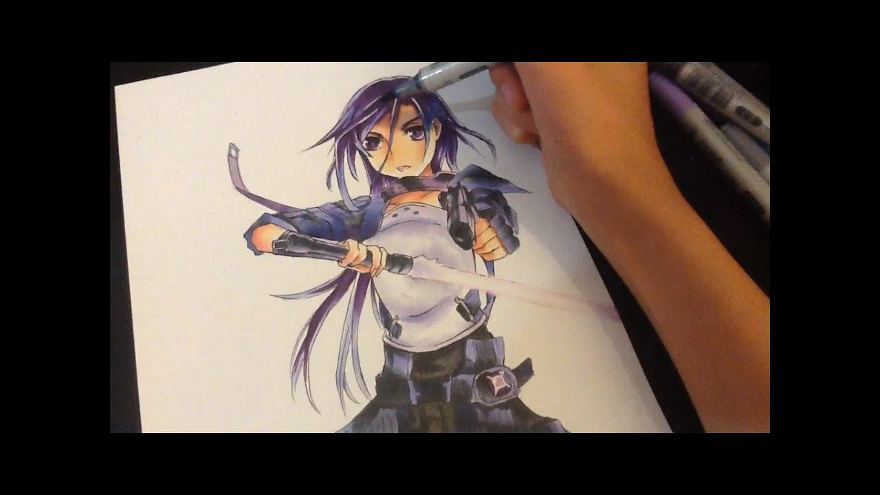 Drawing Kirito From Sword Art Online 2 Youtube