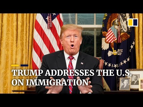 Full Trump immigration address plus Democrat response Mp3