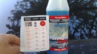 Жидкость для омывателя лобового стекла Amway  PERMA CLEAR(жидкость для омывателя лобового стекла действительно наносит защитное покрытие и капли воды слетают в..., 2013-07-20T07:45:35.000Z)