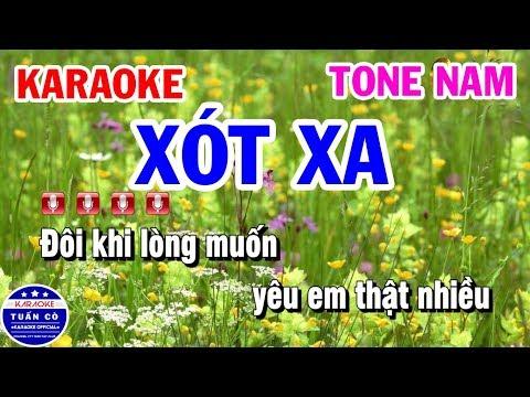 Karaoke Nhạc Sống Xót Xa || Tone Nam Tuấn Cò Karaoke