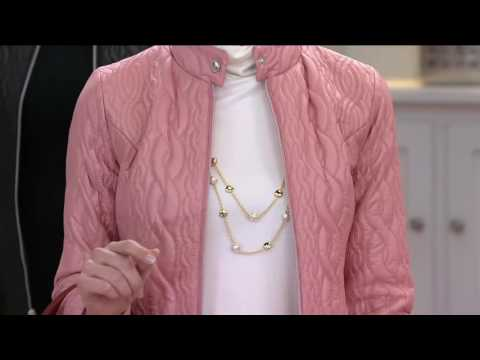 Isaac Mizrahi Live! SOHO Cable Quilted Nylon Jacket on QVC